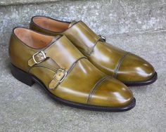 Carlos Santos doublemonk on the 234 last in Florest patina in stock #carlossantos @carlossantosshoes #goodyearwelted #afinepairofshoes #afpos #menshoes #mensfashion