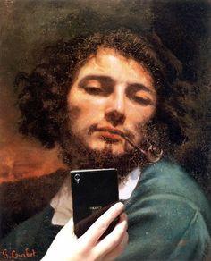 """""""Non ci possono essere scuole: ci sono soltanto pittori.""""  L'UOMO CON LA PIPA - Autoritratto, Gustave Courbet"""