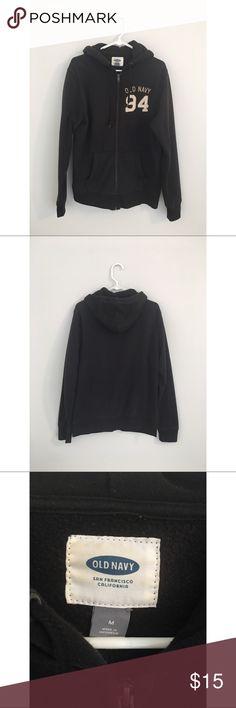 "Old Navy Fleece Zip Hoodie Black fleece zip hoodie. Great if exercise wearing it.  Chest: 42"" / 106.5cm Sleeve: 27"" / 68.5cm Length: 27"" / 68cm Old Navy Shirts Sweatshirts & Hoodies"