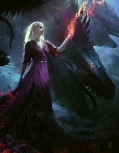 "pixalry: "" The Dragon Queen - Created by Soufiane Idrassi """