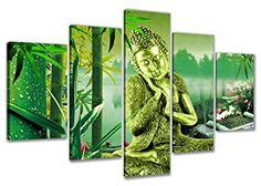 Cuadro Buda verde