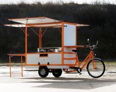 Food Cart Design, Food Truck Design, Cafe Design, Coffee Carts, Coffee Shop, Mobile Food Cart, Bike Cart, Bike Food, Velo Cargo