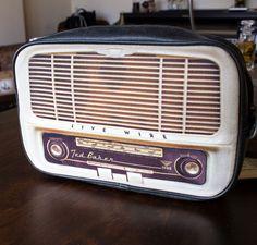 Retro Radio Toiletries Bag