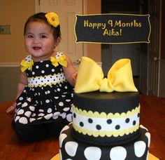 Cake inspired by baby's cute little dress...neat idea! @Melanie Mangrum @Shawna Butler