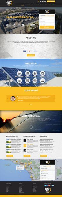 Modern Minimalist design for the BEST Solar Company! by GetNetSolution