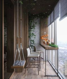 Jaw Dropping Diy Ideas: Quirky Home Decor Inspiration Handmade Home . - Wood Working - Jaw Dropping Diy Ideas: Quirky Home Decor Inspiration Handmade Home Decor - Home Decor Inspiration, Balcony Furniture, Handmade Home Decor, Small Apartment Balcony Ideas, Living Room Decor, Glass Balcony, Home Decor, House Interior, Apartment Decor