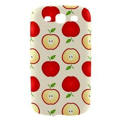 Cute Apple Pattern Samsung Galaxy S3 Hardshell Case Cover