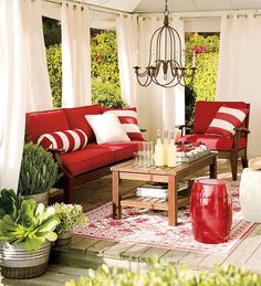 Why am I always drawn to red??? LOVE this cozy feel...