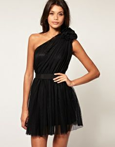 ASOS Pleated Dress with One-Shoulder $109.08