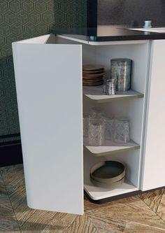 Un meuble d'angle pour une utilisation maximum de l'espace de la cuisine