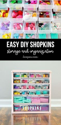 This DIY solution for organized Shopkins storage is so easy! #MooseHolidays16 (ad)