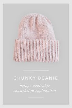 samuji chunky beanie ohje neuleohje blogi Beanie Knitting Patterns Free, Beanie Pattern Free, Knitting Help, Crochet Patterns, Free Pattern, Yarn Crafts, Knitting Projects, Knitted Hats, Knit Crochet