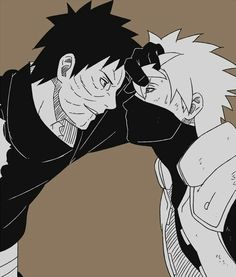 I dont ship this, obito just looks hot in this. I wish I could replace Kakashi xD