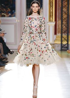 ZUHAIR MURAD. I love that long sleeves and full skirts are making a come back