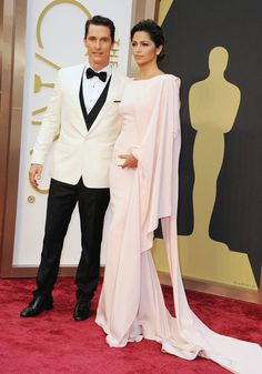 Mathew McConaughey and wife at the Oscars Academy Awards 2014.