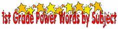 1st Grade Vocabulary (math, science, social studies)