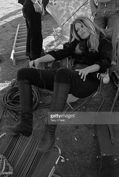 French actress Brigitte Bardot shelters from the sun whilst filming in Spain, Get premium, high resolution news photos at Getty Images Bridget Bardot, Brigitte Bardot, Jacqueline Bisset, Faye Dunaway, Divas, Camilla, Terry O Neill, Foto Top, Charlotte Rampling