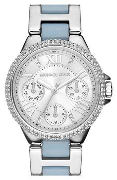 MICHAEL+Michael+Kors+Michael+Kors+'Mini+Camille'+Chronograph+Crystal+Bezel+Bracelet+Watch,+33mm+available+at+#Nordstrom