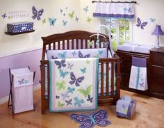 Beautiful Butterflies - This is what we decided to go with for the baby's room. I'm hoping to get most of the stuff for my baby shower. A nice alternative to pink overload!