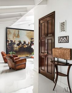 Will Kopelman devises an ultrastylish man cave at the California home he shares with wife Drew Barrymore