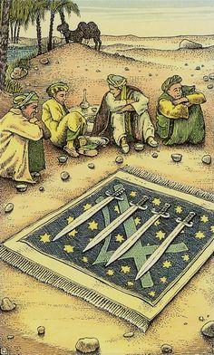 Four of Swords - Cosmic Tarot by Norbert Losche
