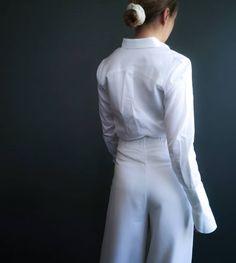The women's basic shirt with the Unbranded signature yoke 💮 ________________________________________ #oslounbranded #whiteshirt #sustainablebrands Bra, Pants, Shirts, Fashion, Trouser Pants, Moda, Fashion Styles, Bra Tops, Women's Pants