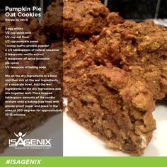 Oat Cookie Recipe, Oat Cookies, Cookie Recipes, Pumpkin Recipes, Biscotti, Healthy Desserts, Healthy Recipes, Whey Recipes, Protein Recipes