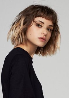10 Trendy Messy Bob Hairstyles, Female Hairstyle for Short Hair . 10 Trendy Messy Bob Hairstyles, short hair female hairstyle Source by Short Hair With Bangs, Girl Short Hair, Short Hair Cuts, Ombre Bob With Bangs, Short Messy Bob, Long Bob, Ombre Hair Bob, Bangs Short Hair, Blunt Bob With Fringe