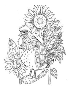 Southern Coloring Books Vintage Pages