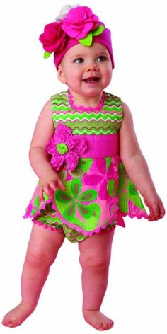 Mud Pie Baby-girls Newborn Little Sprout Petal Top and Bloomer Set