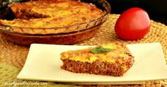 Easy Paleo Hamburger Pie, Crust Free and Low Carb / beautyandthefoodie.com