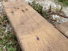 """Reclaimed rough sawn oak lumber. DETAILS:  Saved from Indiana corn crib. Beautiful saw marks and depressions. Great for table tops and open shelving applications. Each board varies slightly and these differences are to be celebrated  DIMENSIONS: Widths from 6""""-10"""" up to 13' in length."""