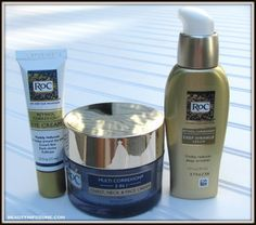 RoC those wrinkles away with Retinol Correxion Deep Wrinkle Serum, Eye Cream, and Multi-Correxion Chest, Neck and Face Cream!