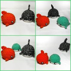 Here's all 3 of the cute little fishies that I have created!  #crochels #crochet #crocheting #etsyusa #etsyprepromo #etsyfinds #etsyshopowner #etsyseller #etsystore #crochetseller #crochetblog #kawaiicrochet #crochetersofinstagram #supporthandmade #geekycrochet #handmade #handmadecrochet #amazonhandcrafted #handmadeatamazon #aquaticlife #whales #sharks #goldfish #adorablecreatures #cuteanimals #fishies #crochetamigurumi #kawaiiamigurumi #crochetplush #plushfish