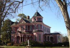 Pink Victorian mansion