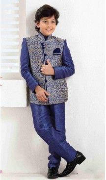 Jute Blue Blazer & Suits For Boys Kids Wear Online, Garba Dress, Indowestern Gowns, Mens Sherwani, Best Online Shopping Sites, Valentines Day Dresses, Kids Lehenga, Lehenga Online, Kids Suits