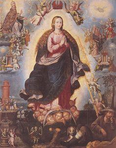 Alegoría Concepcionista de la Escala de Jacob, Blas de Torres, Museo de la Basilica de Guadalupe, Cdad. de México, D.F. | Flickr - Photo Sharing!