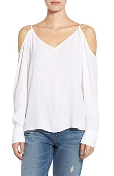 Free shipping and returns on Leith Cold Shoulder Top at Nordstrom.com. Styled with on-trend cutouts at the shoulders, this breezy, beautifully draped top is sure to become a closet staple during the warm end-of-summer days.