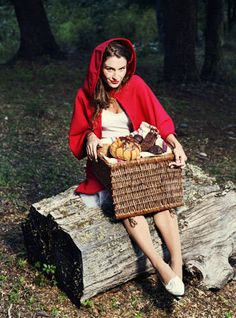 Little Red Riding Hood | Easy Last-Minute Costume Ideas For Adults | This would be pretty easy to pull off I think, there are red capes everywhere at Halloween stores! Inspiration via DIY Fashion