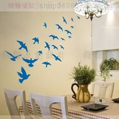 Large sea Birds Mediterranean Style Wall Stickers Wall Decals Decal Home Decor #Affiliate