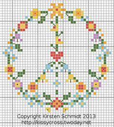 Flower power, free chart by Kissy-Cross