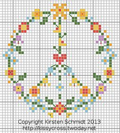 Flower power, free chart by Kissy-Cross