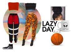 """So lazy"" by cutenevii on Polyvore featuring Kelly Behun Studio y Vans"