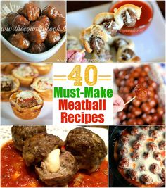 These are the 40 Must Make Meatball Recipes! Meatball recipes for appetizers, dinner and snacks! All of them are delicious and easy to make! Crockpot Recipes, Cooking Recipes, Mince Recipes, Great Recipes, Favorite Recipes, Yummy Recipes, Cake Mix Recipes, Drink Recipes, Man Food