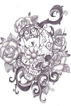 sugar skull tattoo designs   Sugar Skull Designs Inspiration From Mexican Folk Art are from sugar ...