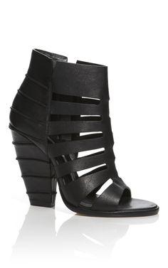 Camilla Skovgaard Black Cuban Heel Cage Line Sandal