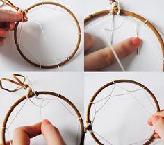 Dream catchers are webbed and beaded circles hung with feathers from the base of the circle. Legend says that the purpose of a dream catcher is to catch dreams—that is, to trap bad or evil Dream Catchers, Dream Catcher Craft, Dream Catcher Supplies, Diy Dream Catcher For Kids, Diy Projects To Try, Crafts To Do, Craft Projects, Arts And Crafts, Craft Ideas