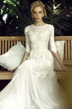 Finding a modest wedding dress has been made easier of late due to the trending of long sleeves and higher necklines. Despite this, a bride is still somewhat hard pressed to find something that tic…
