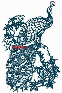 Blue Peacock Cross Stitch Chart by on Etsy Peacock Drawing, Peacock Art, Peacock Logo, Line Drawing, Drawing Sketches, Drawings, Peacock Images, Chinese Paper Cutting, Pattern Illustration