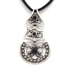 Pendant Galician traditional costume, silver and jet, handmade by artisans of The Way of Saint James. Tax free - $44.90